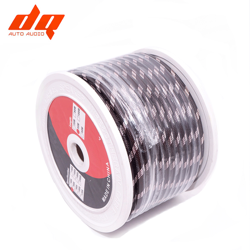 6Ga Pure Copper Power Cable OFC Woven Tin Plating Car Subwoofer Amplifier Audio Cable Snakeskin Retardant