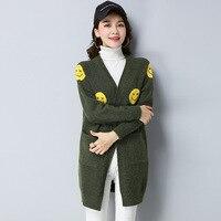 Harajuku Cardigans Sweaters Women 2017 Korean Style Kawaii New Autumn Winter Retro Cute Waistcoat Long Cardigan