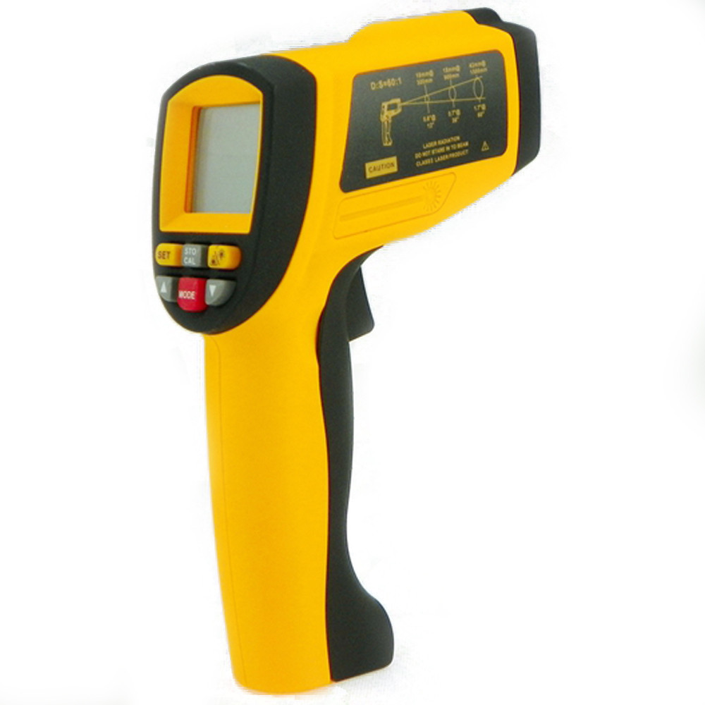 Professional GM1650 Non-Contact 50:1 LCD Industrial Gun Digital IR Infrared Temperature Gun Thermometer 200~1650C
