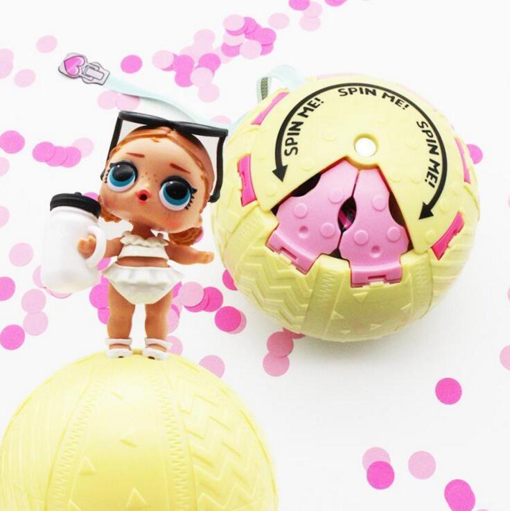 2018 конфетти pop 10 см большой lol кукла шаров 3 серии яйцо игрушки для девочек вечерние фигурка героя распыления воды изменение цвета Наряжаться