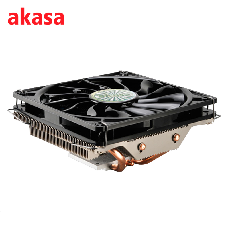 AKASA 120mm Ultra Quiet 4Pin PWM Cooling Fan CPU Cooler 4 Copper Heatpipe Radiator for Intel LGA775 115X 1366 for AMD AM2 AM3 1 5u server cpu cooler computer radiator copper heatsink for intel 1366 1356 active cooling
