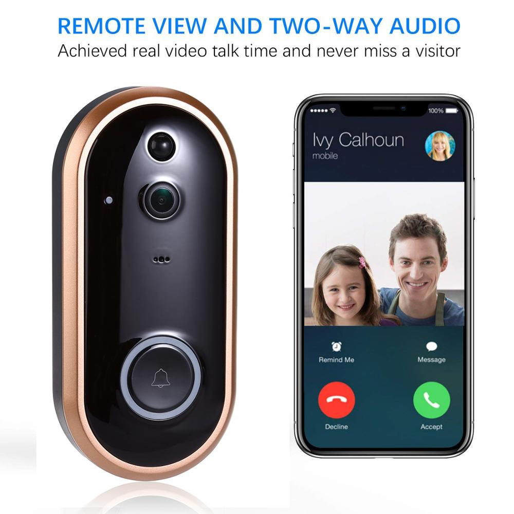 Smart WIFI Doorbell Intercom 1080P Video Ring Door Bell With Camera IR Entry Door Alert Wireless Security Door Call Video Eyes