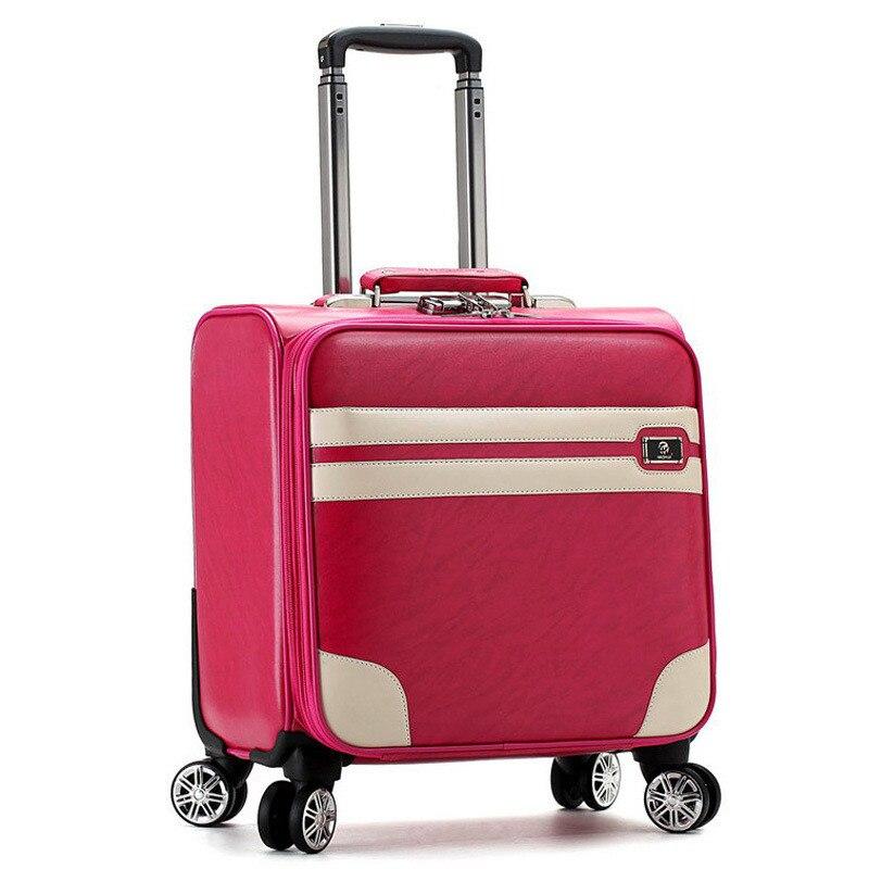18 дюймов чемоданы на колеса прокатки путешествия Чемодан Для мужчин/Для женщин тележки чемодан может быть на самолете вализ maletas 16 видов сти...