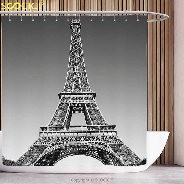 Unico Tenda Della Doccia Torre Eiffel Paris Landmark E Foto Di