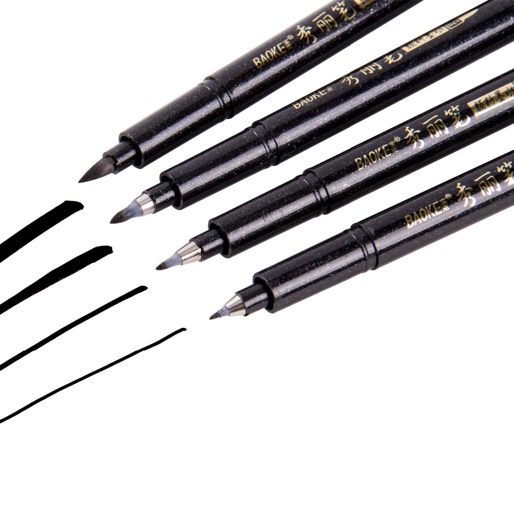 1Pcs Calligraphy Pen Hand Lettering Pens Brush Refill Lettering Pens Markers for Writing Drawing Black Ink Pens Art Marker in Art Markers from Office School Supplies