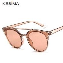 KESIMA Doble viga marco grande gafas de sol de gran tamaño de la marca de lujo espejo de sombra gafas mujeres gafas de sol de mujer
