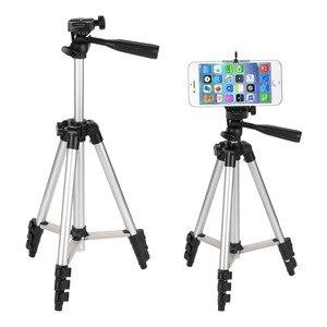Image 4 - KOOYUTA profesyonel alüminyum kamera Tripod standı tutucu telefon tutucu naylon taşıma çantası iPhone Smartphone için dört kat yüksek
