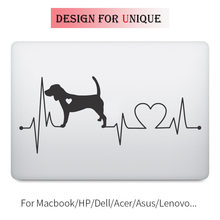 Anjing Detak Jantung Laptop Decal Decal Sticker untuk Apple Macbook Pro Retina Air Permukaan sentuh Bar 11 12 13 15 inch Vinyl Mac Buku Kulit(China)