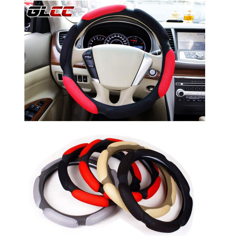 Universal Car Steering Wheel Cover 38cm 3D Car Styling Handlebar braid Covers Sport Breathable Skid-proof car accessories perforated breathable skidproof steering wheel cover diameter 36cm 38cm 40cm fiber leather handlebar braid car covers