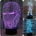 Lâmpada de Mesa novidade Star Wars Ilusões 3D Homem De Ferro Lâmpada de Lava luz 7 Color Changing Led Night Light Lamp 3D Acrílico Levou lâmpada