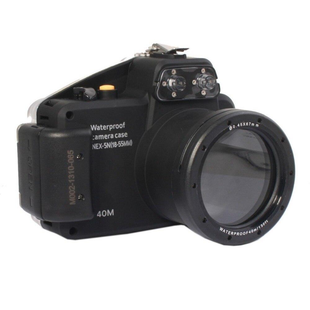 Mcoplus 40m 130ft Underwater Diving Waterproof Housing Bag Case for Sony NEX5N Nex 5N Camera with