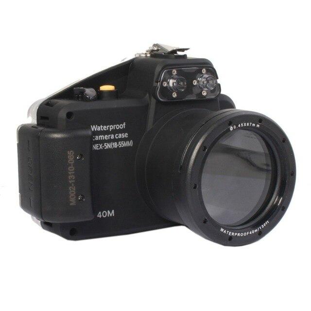 Mcoplus 40 м 130ft Подводный Водонепроницаемый Корпус Сумка для Sony NEX5N Nex-5N Камеры с 18-55 мм Объектив
