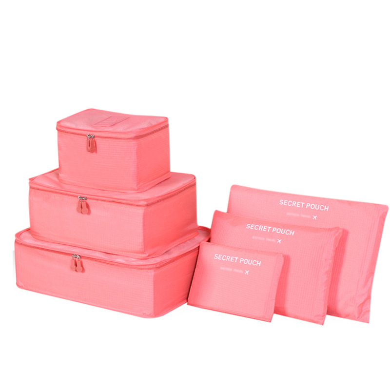 Japan Nylon Packing Cube Version Six Pieces Packing Cubes Bag Duffel Bag Thickened Suitcase Set Travel BagS 7 color ...