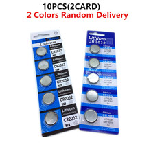 10PCS/2CARD CR2032 Button Batteries BR2032 DL2032 ECR2032 Cell Coin Lithium Battery 3V CR 2032 For Watch Electronic Toy Remote цена