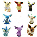 8 estilos New Hot Espeon Plush Umbreon Espeon Vaporeon Glaceon Plush Doll Brinquedos Figura 20 cm