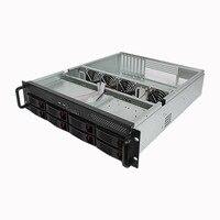 2U8 диск горячей замены сервер шасси стойки типа интернет кафе хранения короткий сервер шасси 550 глубокий чехол для компьютера