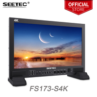 Seetec FS173 S4K 17.3 Inch 1920x1080 Full HD 3G SDI 4K HDMI Broadcast Monitor for Studio CCTV onitoring with UMD Text Tally
