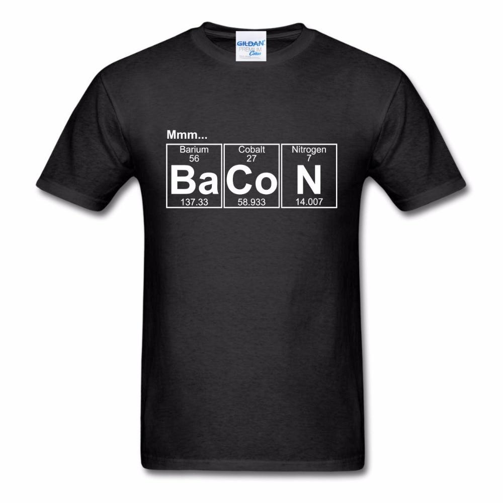 2019 New Hot Sale 100% Cotton Fresh Design Summer Good Quality Ba-co-n (bacon) Print T Shirt Fashion Short Sleeve Harajuku