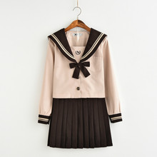 School uniforms  New Japanese Fashion Elegant Long-sleeved JK Uniform Sailor Suit Schoolgirl Uniforms Set