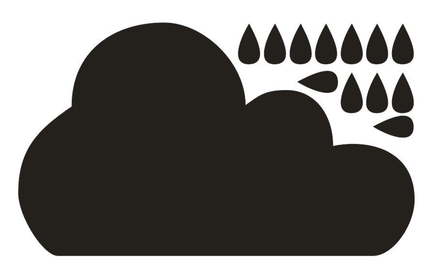 Söt stort molnmönster Väggdekalfilm Borttagbar & vattentät Ingen - Heminredning - Foto 3