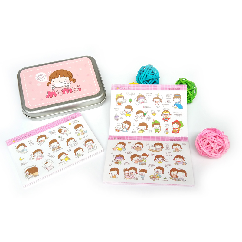 20 Sheets Cartoon Kawaii Girl Stickers Biscuits Scrapbook Calendar Diary Planner DecorBiscuits girl cartoon sticker