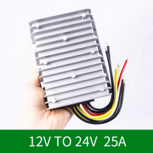 12V to 24V 25A DC DC Boost Module12Volt Step-up 24Volt DC-DC Converter Voltage Regulator Power Supply for Cars CE RoHS converter dc 12v 9v 27v step up to 28v 8a 224w dc dc waterproof boost power module power supply adapter voltage regulator