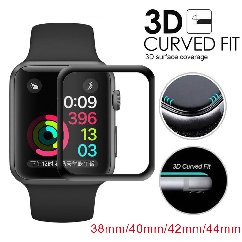 3D Soft Protective Glass For Apple Watch Full Cover Tempered Glass For iWatch 38/40/42/44mm Screen Protector Scratch Proof Film