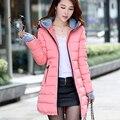De las mujeres chaqueta de invierno abrigo de mujer larga delgada acolchado de plumas genuino invierno espesa capa de la chaqueta outwear
