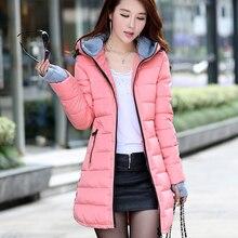 Women's winter jacket coat female slim long genuine feather padded winter jacket coat thicker coat outwear