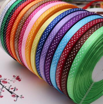 10/25yards new arrive 3/8 (10mm)  Satin ribbon Polka Dots printed  ribbon with white dots, DIY hairbow accessories more color шарф paul smith серый page 3