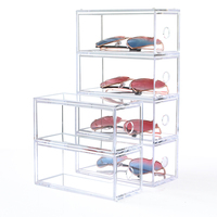 Multi layer Lipstick Box Acrylic Lipstick Holder Case Cosmetics Storage Makeup Glasses Organizer Nail Polish Display Stand Rack