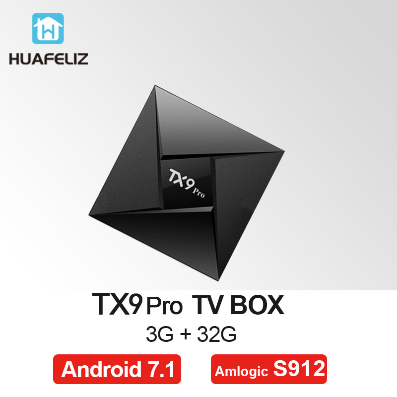 TX9 Pro Amlogic S912 Octa Core Android 7.1 3GB 32GB Smart TV Box 64Bit WiFi 2.4GHz 5.8GHz BT 4.1 4K Set top Box-in Set-top Boxes from Consumer Electronics    1