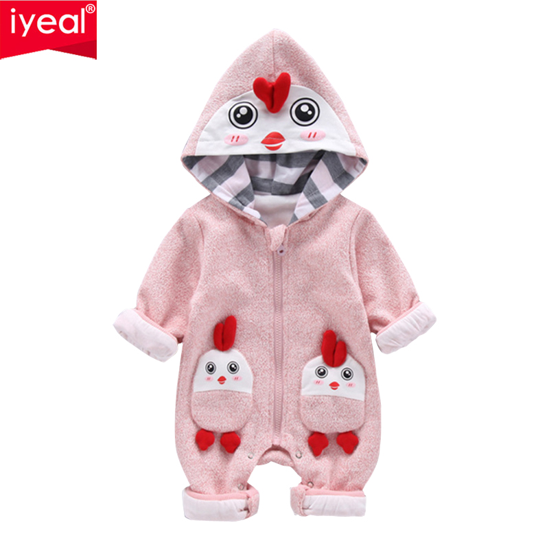 IYEAL Baby Clothes Rompers Newborn Body Suit High Quality Soft Cotton Jumpsuit Baby Outwear Hooded Warm Cotton Infant Overalls newborn baby romper kid jumpsuit hooded infant outfit clothes long animal modelling baby rompers overalls of toddler body suit