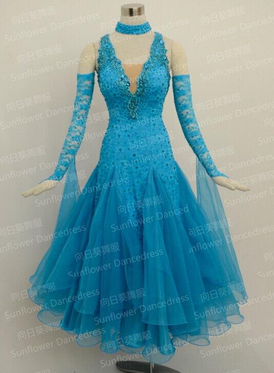 Ballroom Standard Dance Dress New Style Waltz Competition Dress Women Ballgown Dancewear,Sunflower Dance Dress
