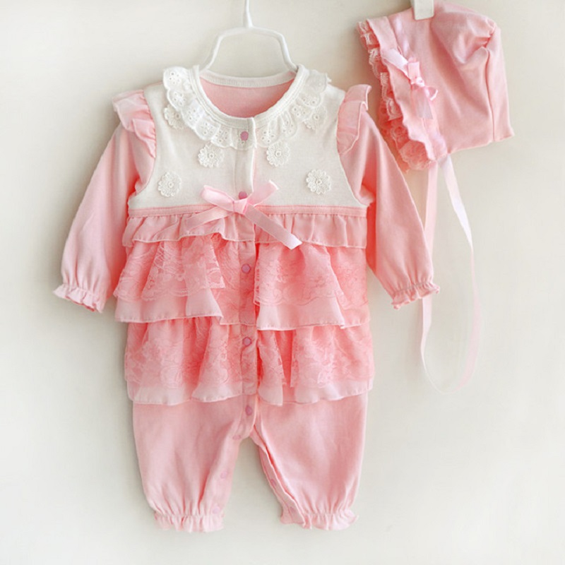 Baby romper high quality fashion princess formal dress floral lace infant outfit clothing new born baby girl clothes
