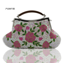 2016 New Freeshipping Solid Bag Mini 20cm Hasp Day Clutches Women Handbag Hot Selling Pearl with