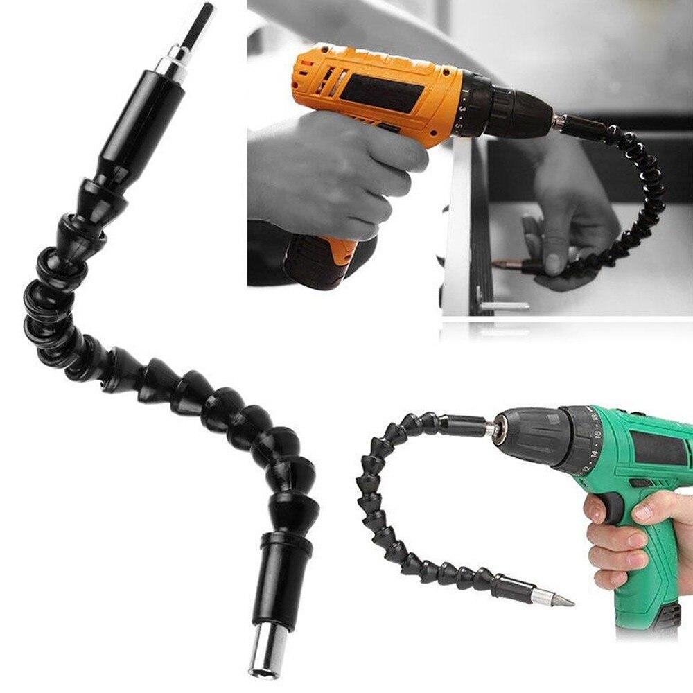 Black Flexible Shaft Bits Extention Screwdriver Bit Holder Connect Link Electronics Drill 295mm Repair Tools #38