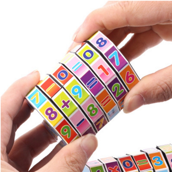 Portable Digital Magic Cubes Educational Toys For Children Kids Mathematics Numbers Cube Toy Puzzle Game