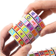 Portable Digital Magic Cubes Educational Toys For Children Kids Mathematics Numbers Cube Toy Puzzle Game color random 48 blocks cube children s educational snake ruler cubes spinner puzzle imagination game toy