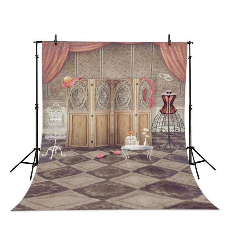 Curtain Screen Retro Boudoir Girl Room Photography Backgrounds Vinyl cloth High quality Computer printed wall  backdrop vintage castle retro medieval architecture stone bridge mountain backdrop vinyl cloth computer print wall backgrounds