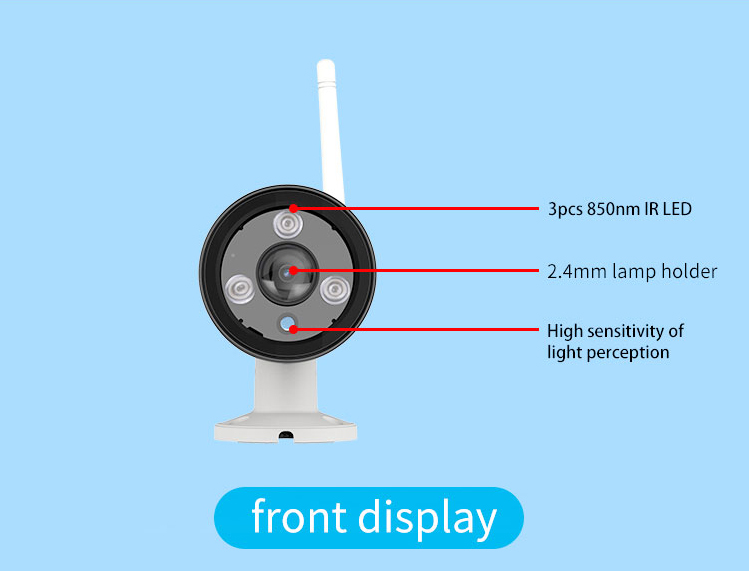VStarcam C63S Outdoor Panoramic Security Bullet IP Camera IR Cut Waterproof IP66 With Motion Detector Max support 128GB TF Card bullet camera tube camera headset holder with varied size in diameter