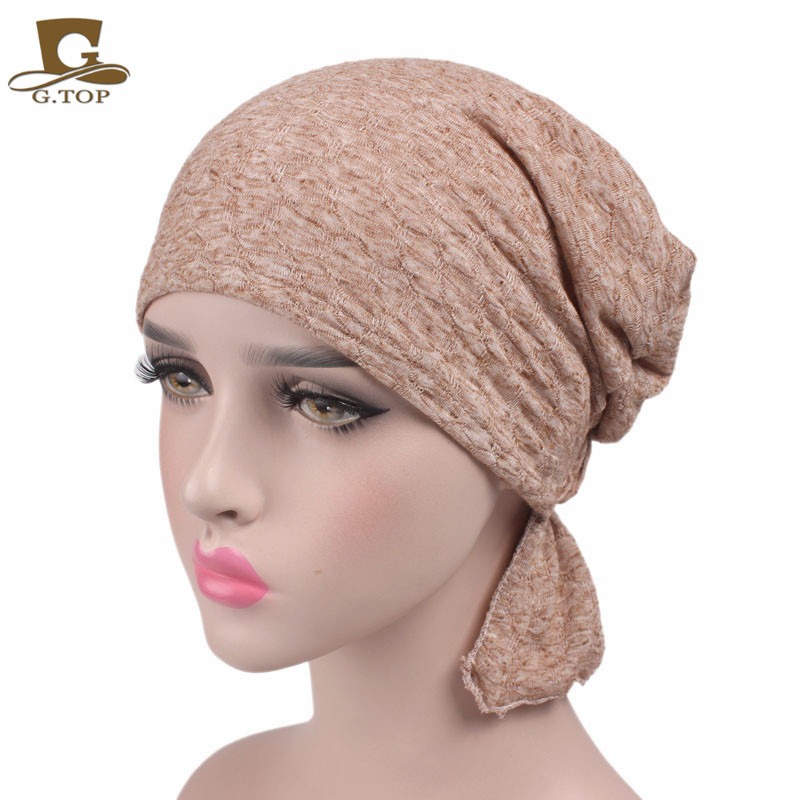 f9329a81e US $7.23 16% OFF|New Hot Sale Women Cotton Chemo Hat Beanie Headscarf  Turban Headwear For Cancer Patients Ladies Headband-in Women's Hair  Accessories ...