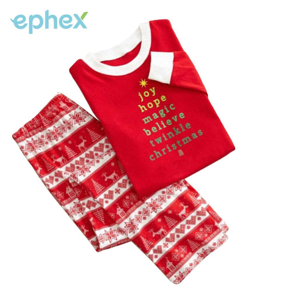 0e47a68a28bf matching christmas pajamas set mens women kids deer sleepwear nightwear red