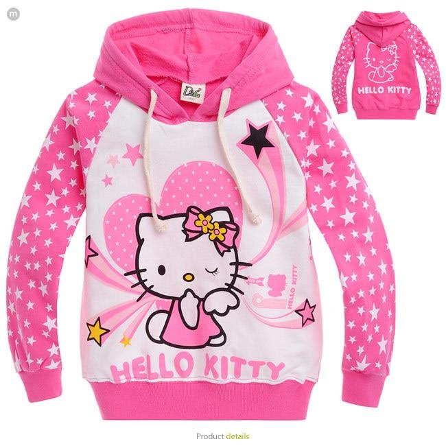 2016 new autumn Hello Kitty girls clothes long sleeve children hoodies kids clothing sweatshirts 2-10age girl