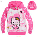 2016 новый осень Hello Kitty девушки одежда с длинным рукавом дети толстовки детская одежда толстовки 2-10age девушка