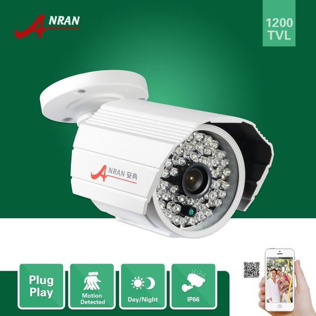 """Anran 1200tvl 1/2. 5 """"sony cmos imx138 sensor ao ar livre à prova d' água 48 ir infrared day night câmera de segurança cctv"""