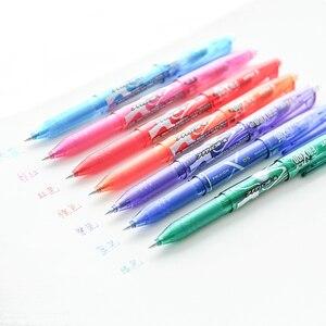 Image 4 - Pilo Gel Pen FriXion dla biurowe biuro 1 zestaw 8 kolorów magiczne wymazywanie dotykowy 0.5mm atrament żelowy wskrzesić pióro LFB160EF8CN