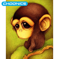 Diamond Painting Monkey Cartoon Sad DIY 3D Diamond Embroidery Babies Cross Stitch Anime Characters A Picture