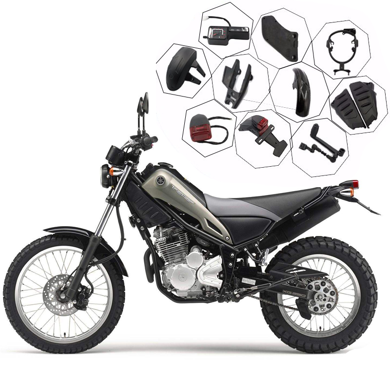 Für Für Yamaha XG250 Tricker 2010-2017 XT250 Serow XT250X 2005-2017 Vorne Hinten Bremsbeläge Set Kit