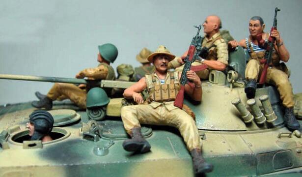 1/35 żywica zestawy radzieckich armii dziewiątego firmy w afganistanie (nie obejmują zbiornika) w Zestawy modelarskie od Zabawki i hobby na  Grupa 1